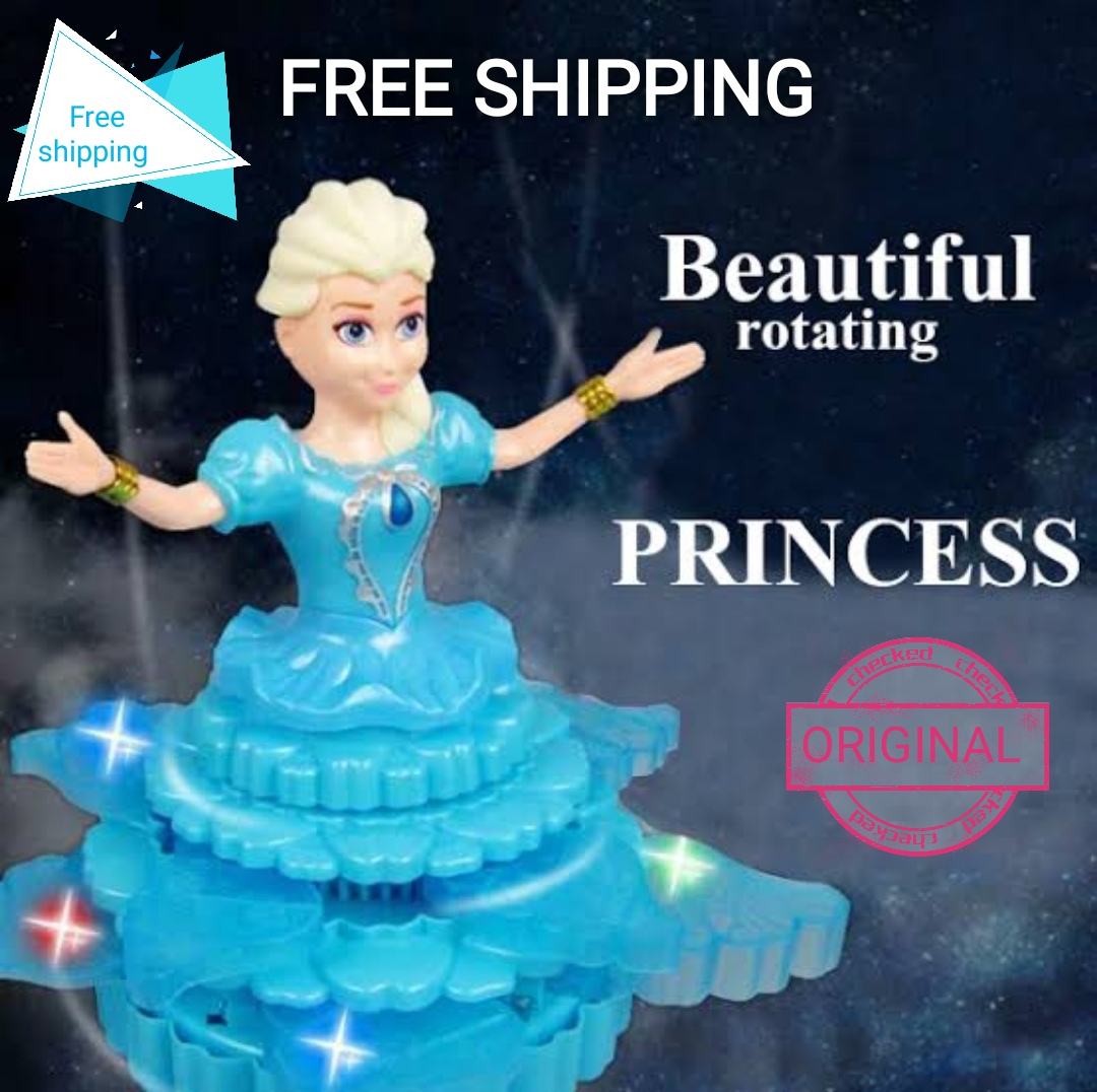 Beautiful Rotating Princess Dancing & Singing Robot Action Figure with Lights & Sound, Toy for Girls