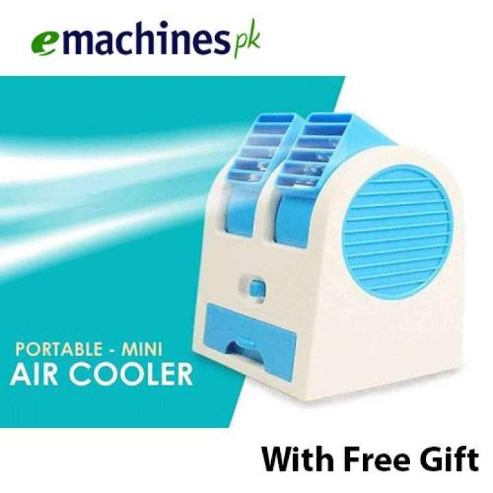 High Quality Mini Air Cooler USB or 3 x AA batteries- Multicolored