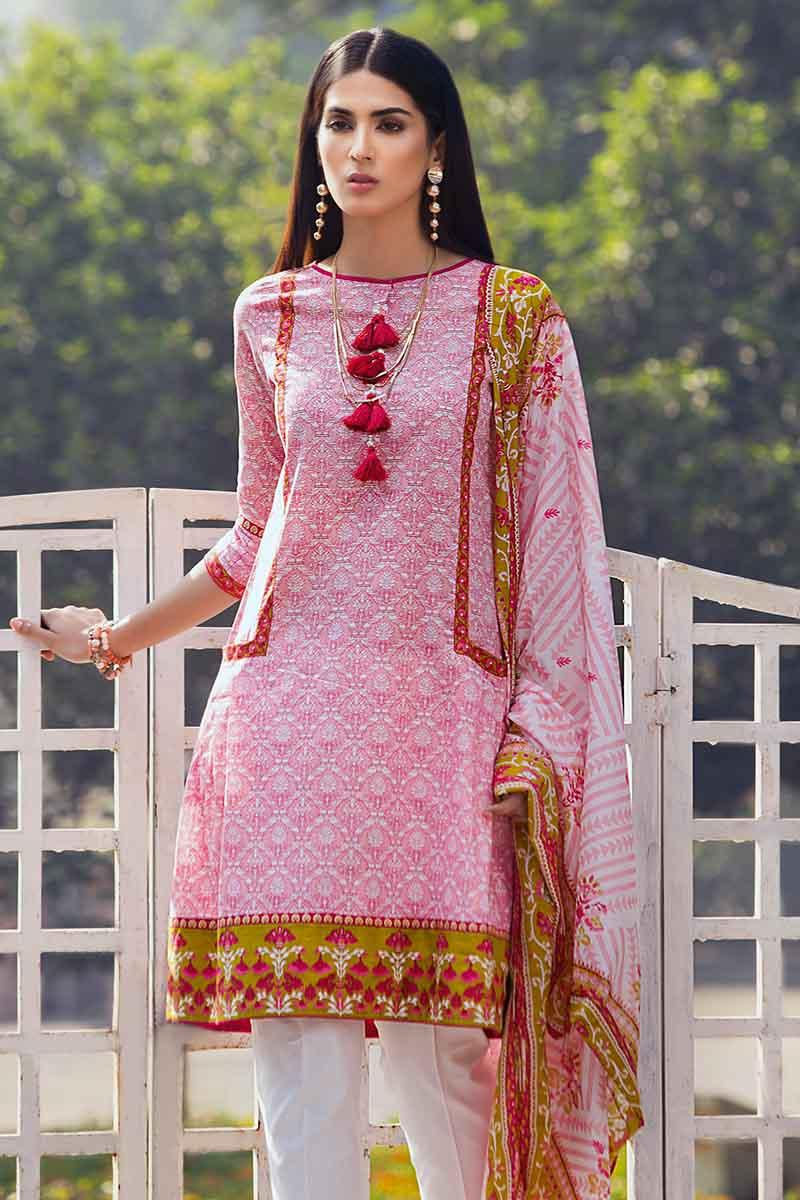 6f374a1cbe GA - GA - Gul Ahmed-Summer Collection 2019 Pink Lawn-2 PC Unstitched