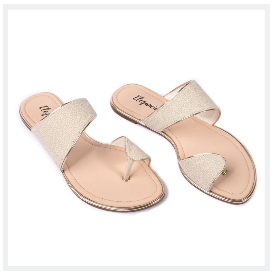 NKA  Women's Flat Sandals  White  Elegancia