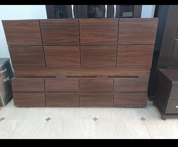 Double Bed Set + Side Tables - High Quality Material Wooden  Size 5 BY 6