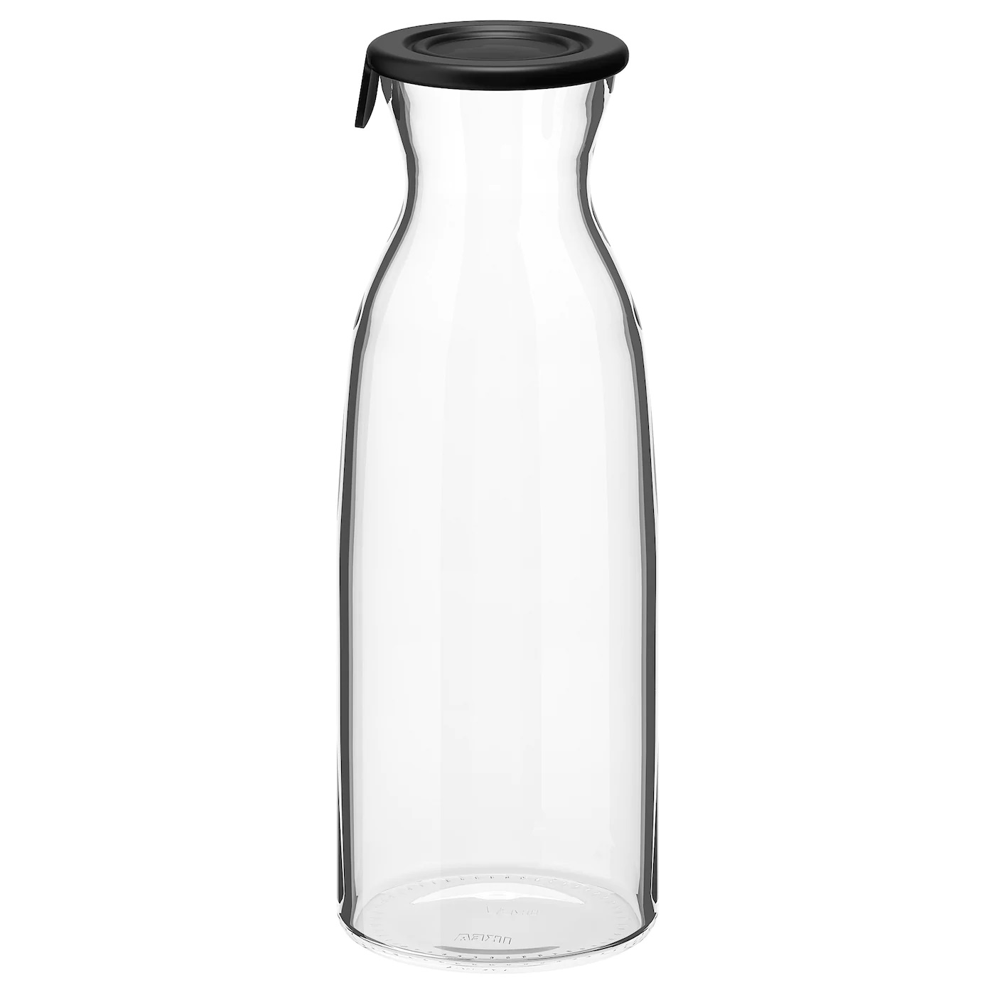IKEA VARDAGEN Carafe with lid clear glass, 1.0 L - Used for Glass Bottle & Vase