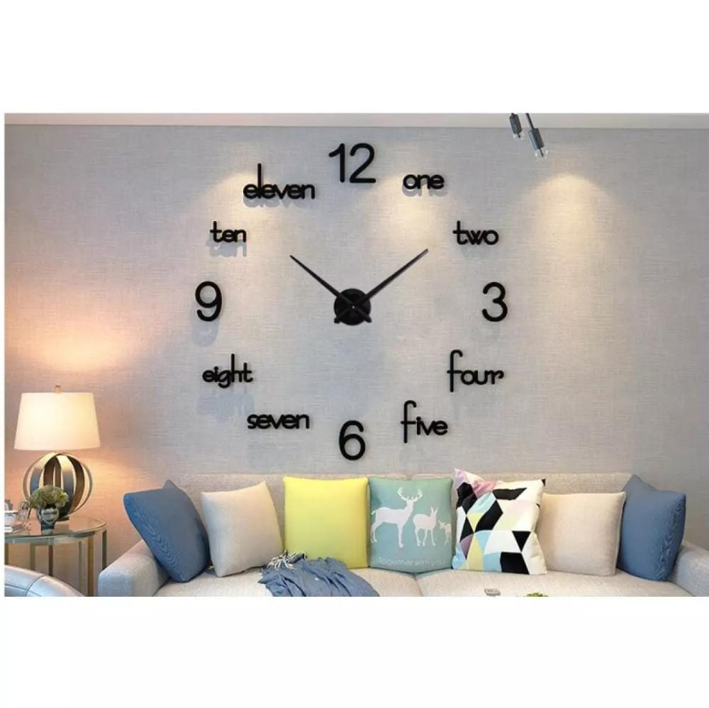 Diy Wooden Wall Clock-3D Diy Modern Wall Clock Stylish Clock For Gift Wooden Diy Clock 24 Inches New Design Clock , 3D Stylish Clock