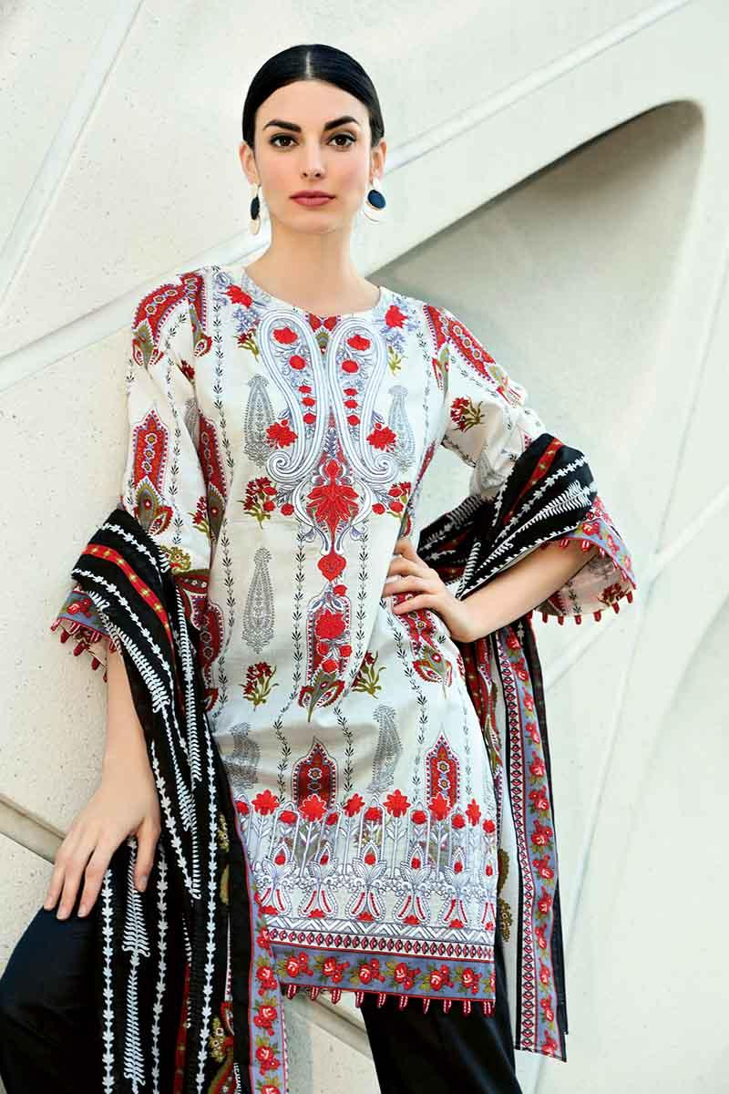 239df26a30 GA - GA - Gul Ahmed-Summer Collection 2019 Red Lawn-2 PC Unstitched