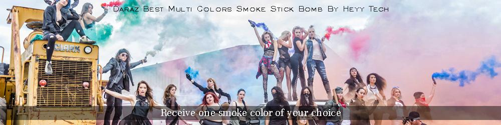 Multi Colors Blue, Red, Green, Yellow Dye Colored - Firework-Chinese Color  Smoke Stick Bomb For Creative Photography Effect , Parties , Wedding And