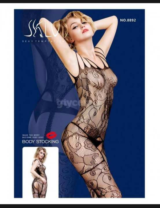 Dynamic Pattern Imported Lace Body Stocking - Nighty