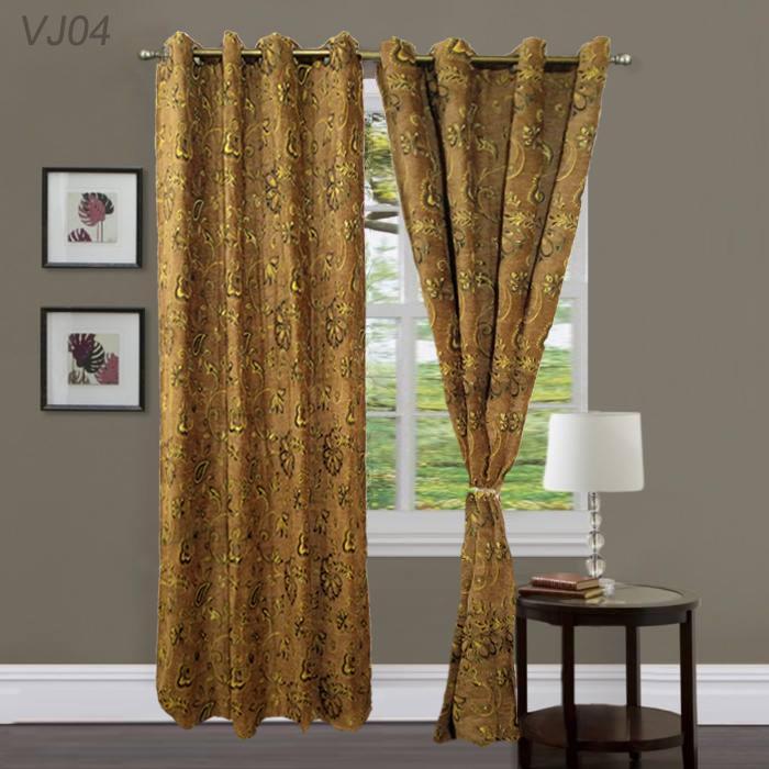 Imported Heavy Jacquard Velvet Curtains Blackout
