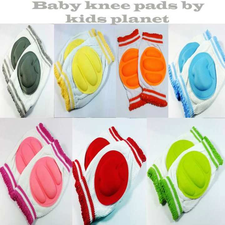 Adjustable Baby Knee pads Crawling Safety Protector  Blue pink grey green yellow red orange