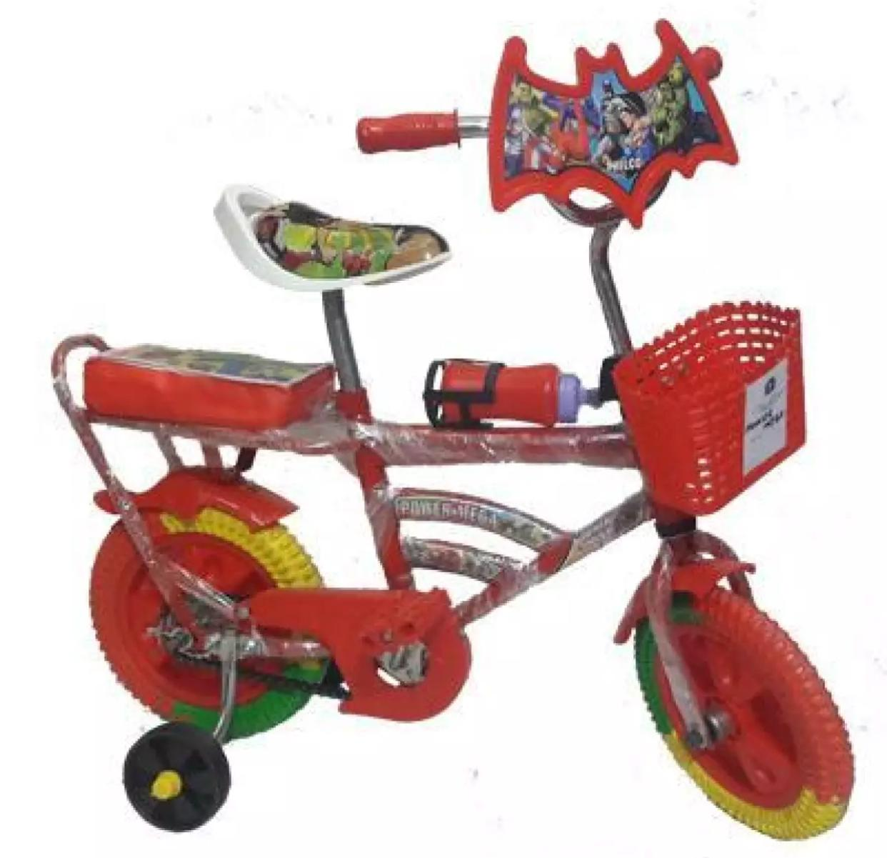 Mega Two wheeler Cycle For Kids Red and Green Color